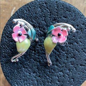 Earrings vintage sterling silver 925💎